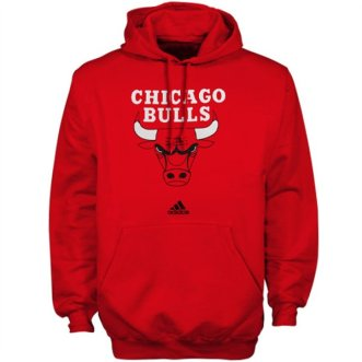 Chicago Bulls Mens Red Hooded Sweatshirt