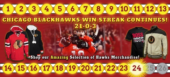 Chicago Blackhawks Point Streak now at 24