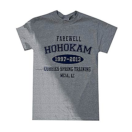 "Chicago Cubs Men's Grey ""Farewell Hohokam"" Spring Training Tee"