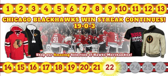 Chicago Blackhawks 19-0-3