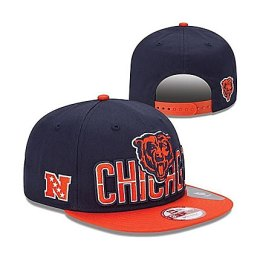 Chicago Bears Navy with Orange Bill 2013 Draft Snapback