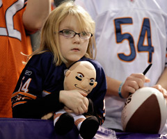 This Urlacher fan is a pretty adorable honor. None of us will miss Urlacher like she will.