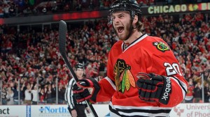 When Saad scores his first playoff goal, a flock of angels get their wings and fly into space to fight cool stuff with awesome lasers.